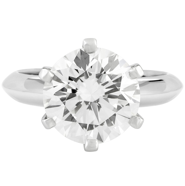 Tiffany & Co. Platinum 3.18 Carat Diamond Solitaire Ring