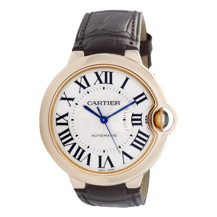Cartier 18K Rose Gold Ballon Bleu 36mm Automatic Watch WGBB0009
