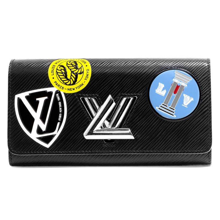 Louis Vuitton Black Epi World Tour Twist Wallet