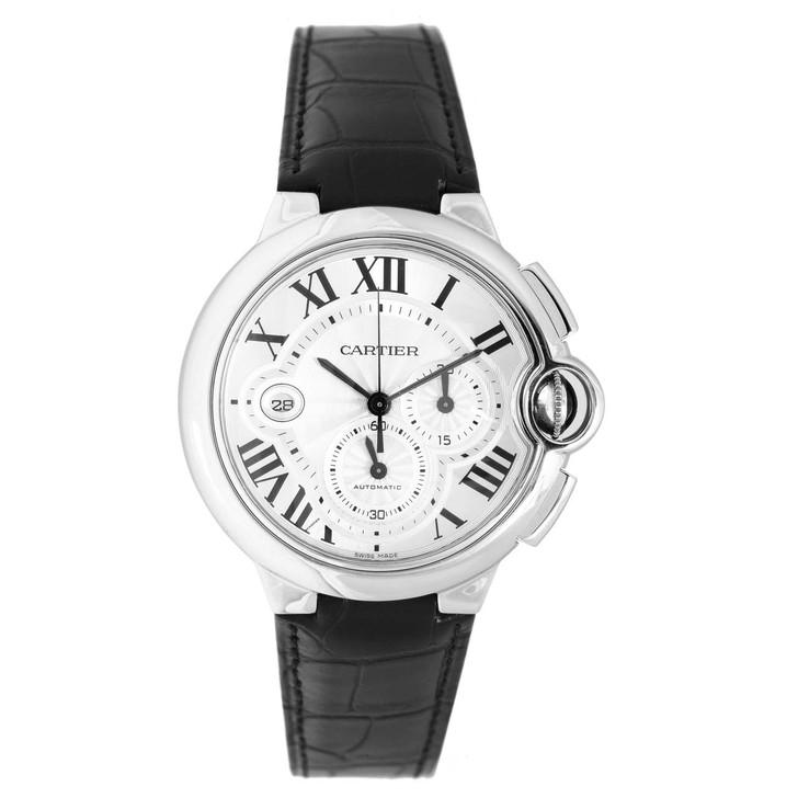 Cartier  Stainless Steel Ballon Bleu Chronograph Watch