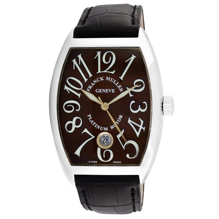 Franck Muller Stainless Steel Cintree Curvex Automatic Watch 7851 SC DT