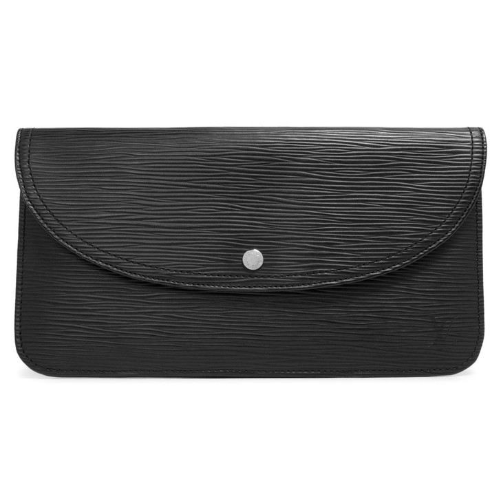 Louis Vuitton Noir Epi Flat Clutch