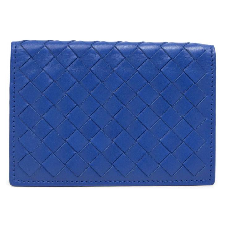 Bottega Veneta Blue Nappa Intrecciato Pocket Organizer