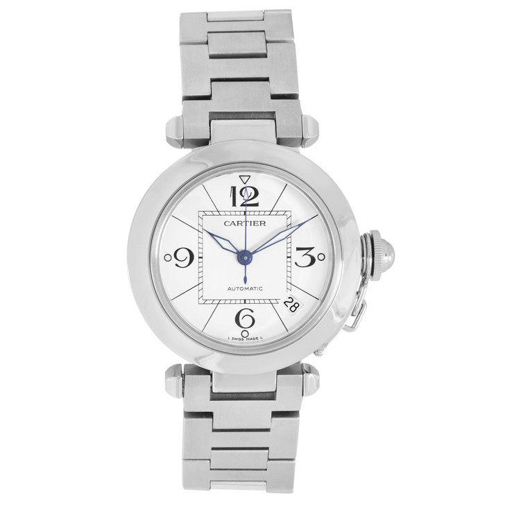 Cartier Stainless Steel Pasha C 35mm Automatic Watch W31074M7