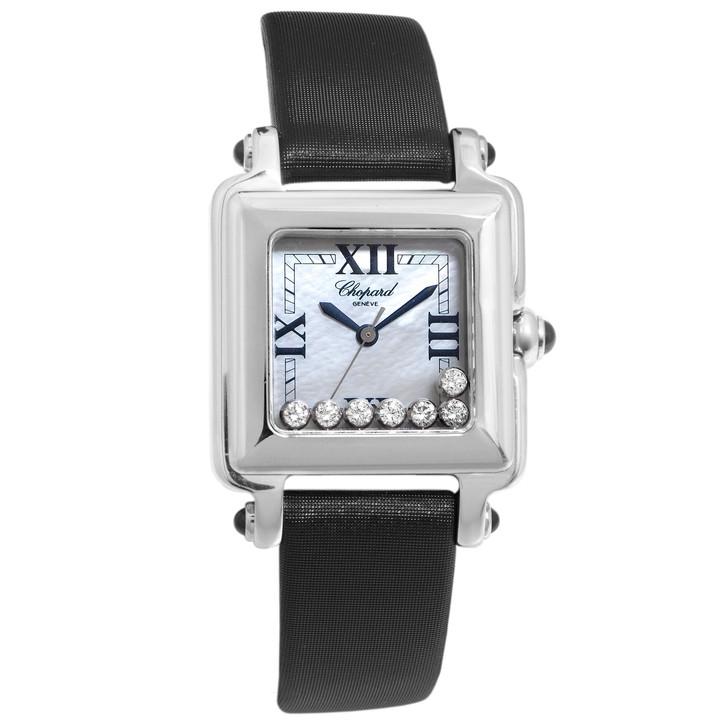 Chopard Stainless Steel Happy Sport Diamond Ladies Watch 27/8325-23