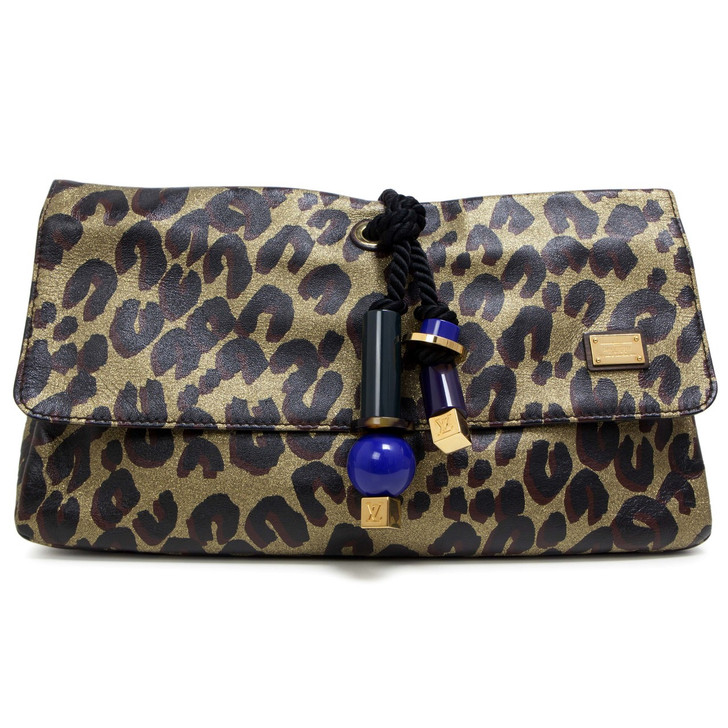 Louis Vuitton Leopard Nocturne African Queen Clutch