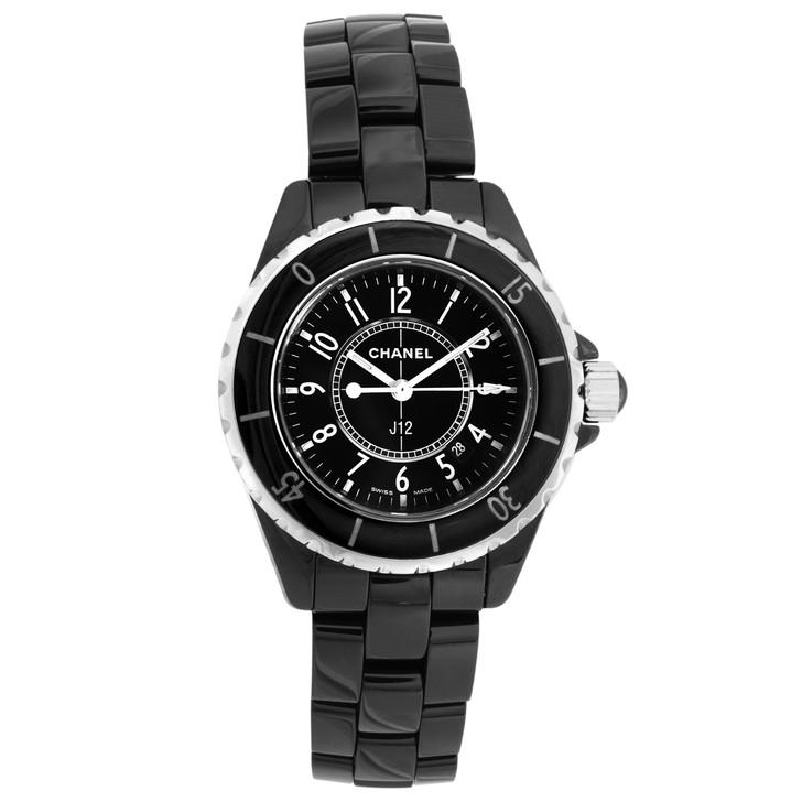 Chanel Black Ceramic J12 33mm Quartz Watch H0682