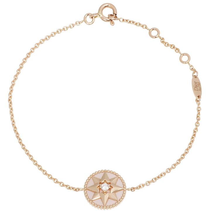 Christian Dior 18K Pink Gold, Diamond & Pink Opal Rose des Vents Bracelet