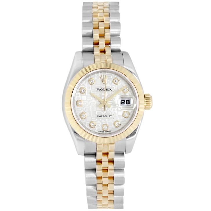 Rolex 18K & Stainless Steel Diamond Ladies Datejust 179173