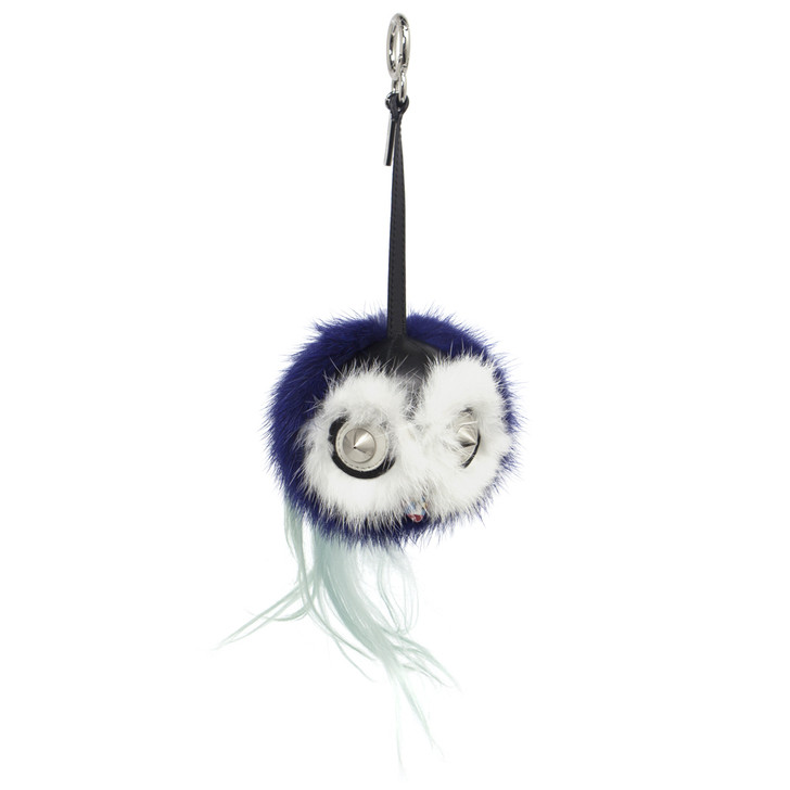 Fendi Blue Mink Fox Fur Birgami Monster Bag Charm