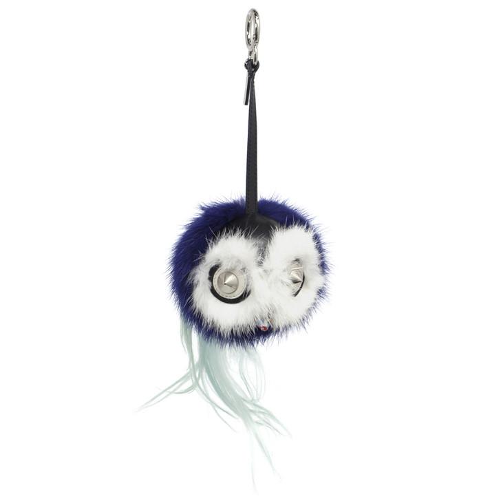 Fendi Blue Mink Fox Fur Birgami Monster Bag Charm