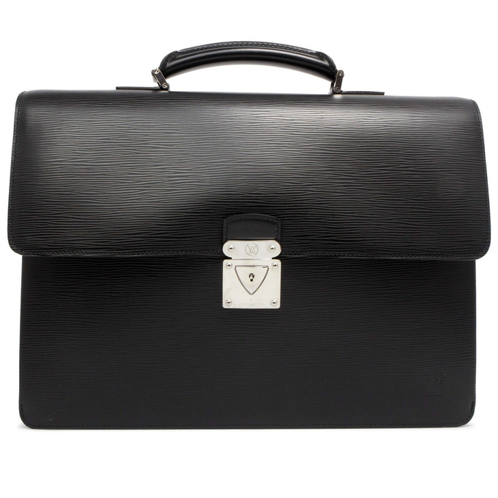 Louis Vuitton Black Epi Robusto 2 Compartment Briefcase