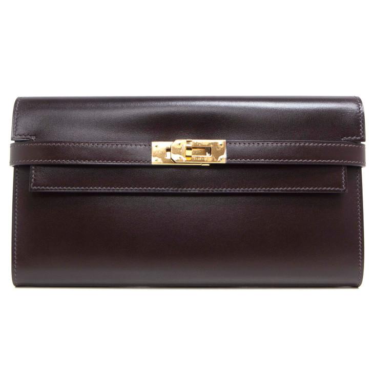 Hermes Chocolate Box Kelly Longue Wallet