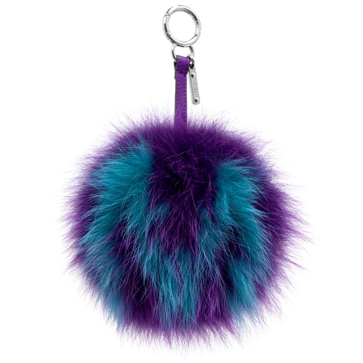 Fendi Fox Fur Pom Pom 'M' Bag  Charm