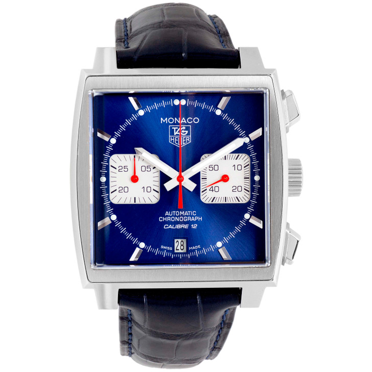 Tag Heuer Monaco Calibre 12 Chronograph Watch CAW2111
