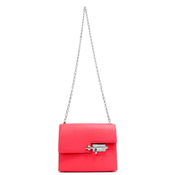 Hermes Rose Azalee Chevre Mysore Verrou Chaine Mini Bag