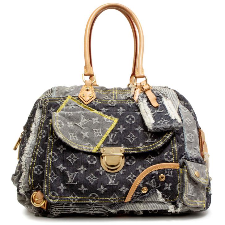 Louis Vuitton Monogram Denim Patchwork Bowly  Bag