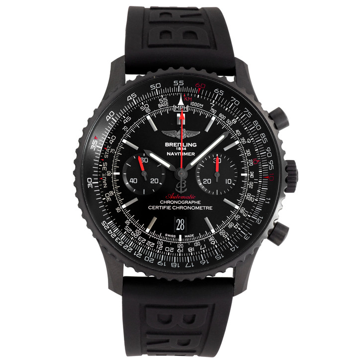 Breitling Navitimer 01 Blacksteel 46mm Automatic Watch MB012822-BE51