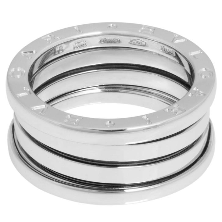 Bvlgari 18K White Gold B.zero1  Three Band Ring