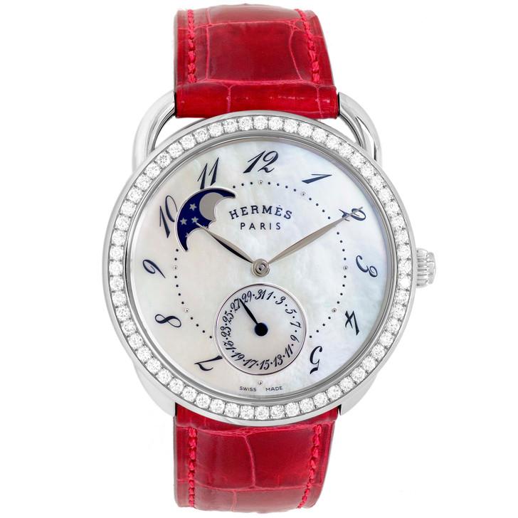 Hermes Diamond Arceau Petite Lune Watch W041035WW00