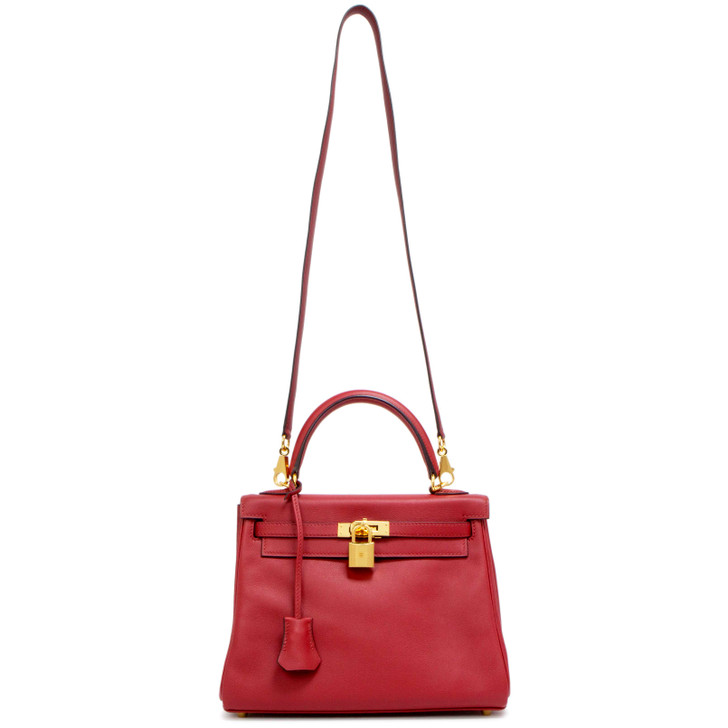 Hermes Rouge Grenat Swift  Kelly Retourne 25