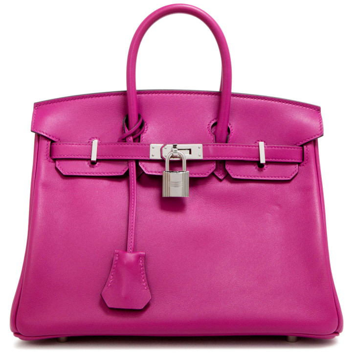 Hermes Rose Pourpre Swift Birkin 25