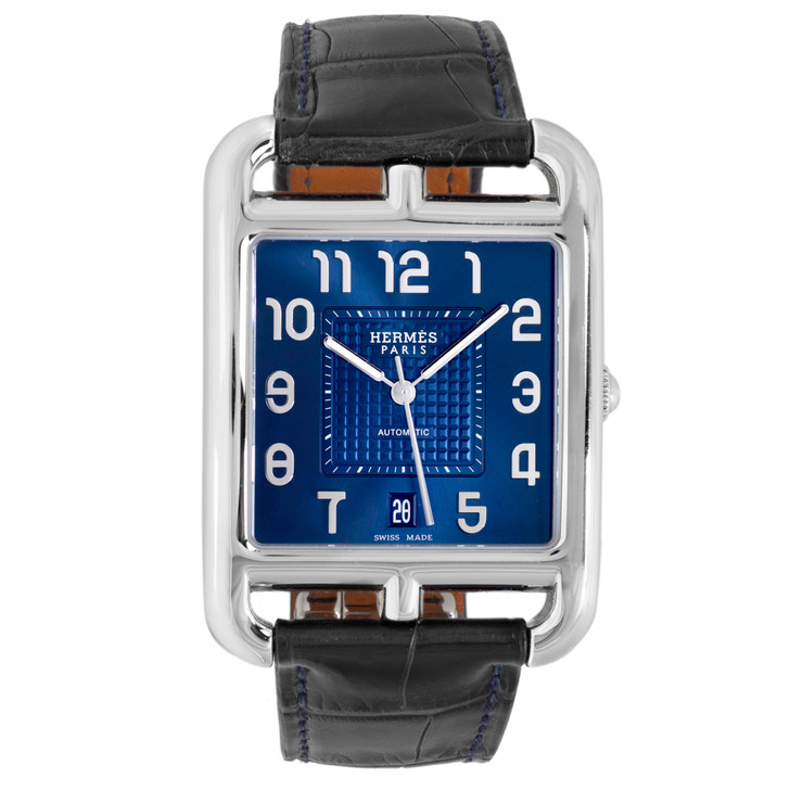Hermes Stainless Steel 33mm Cape Cod Automatic Watch