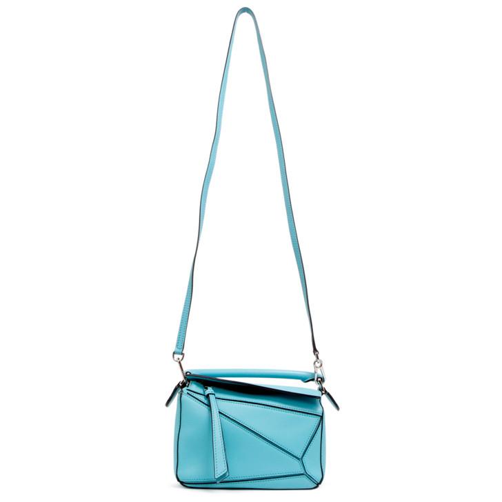 Loewe Light Blue Calfskin Mini Puzzle Bag