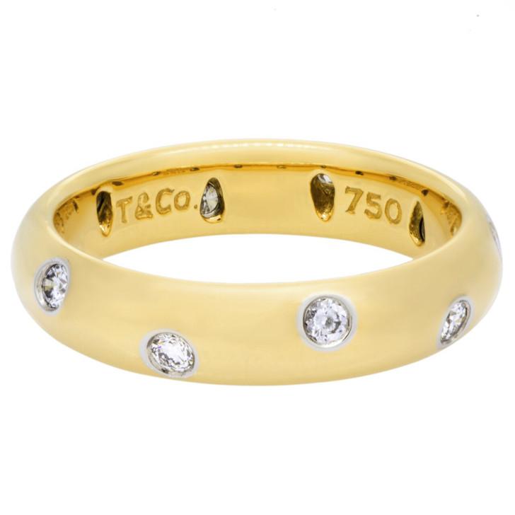 Tiffany & Co. 18K & Diamond Etoile Band Ring