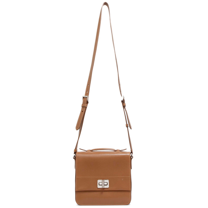 Prada Brown City Calf Crossbody Bag