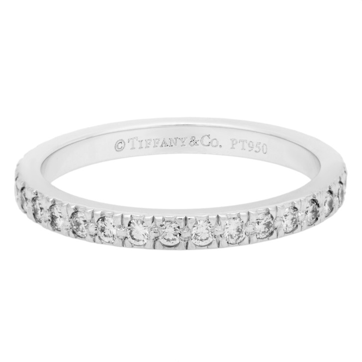 Tiffany & Co. Platinum & Diamond Eternity Band  Ring