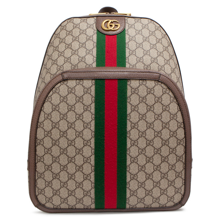 Gucci GG Supreme Medium Ophidia Backpack