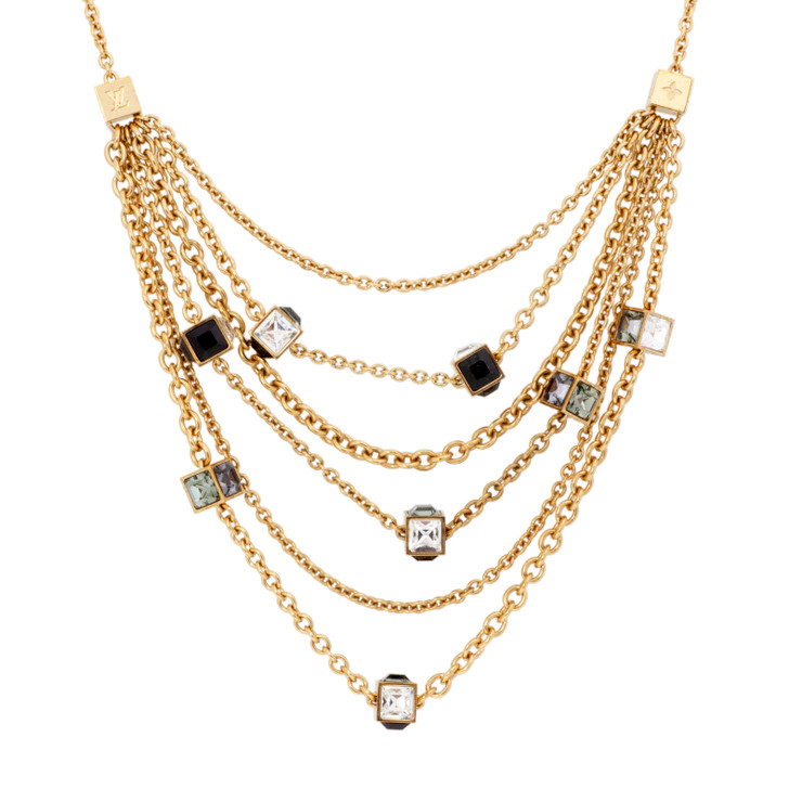 Louis Vuitton Swarovski Gamble Crew Necklace