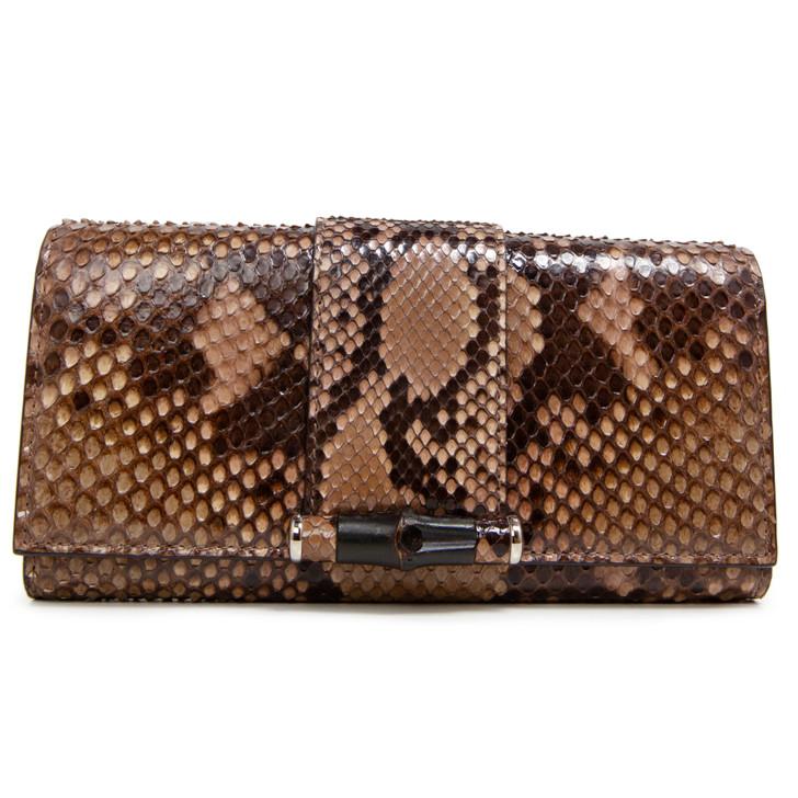 Gucci Python Bamboo Wallet