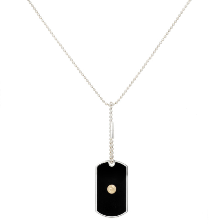 Gucci Sterling Silver & 18K Yellow Gold Grammy Awards Dog Tag Necklace