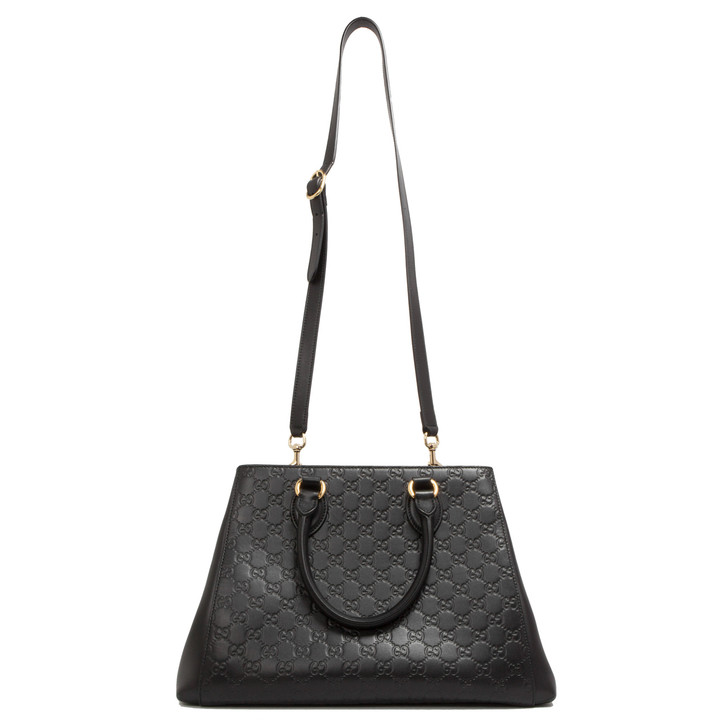 Gucci Black Guccissima Large Top Handle Bag