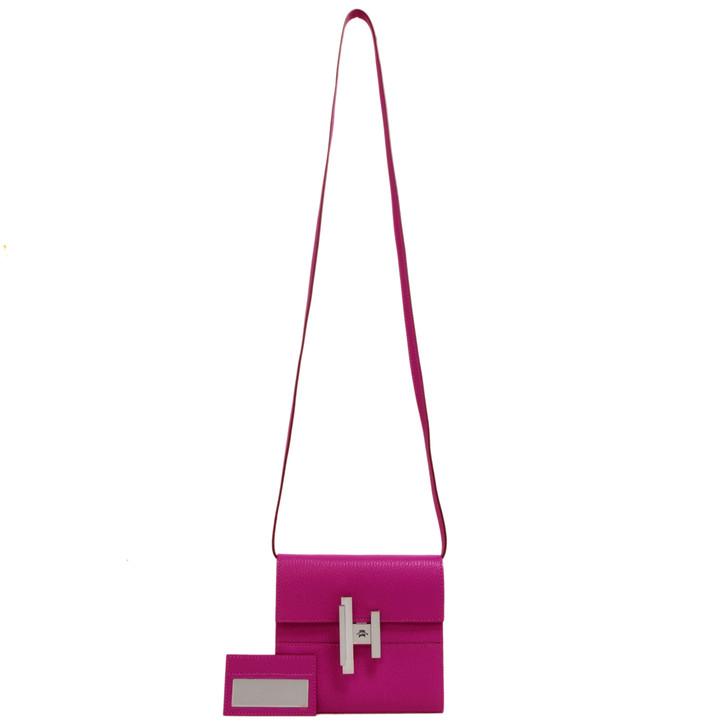 Hermes Magnolia Chevre Mysore Cinhetic Mini Wallet