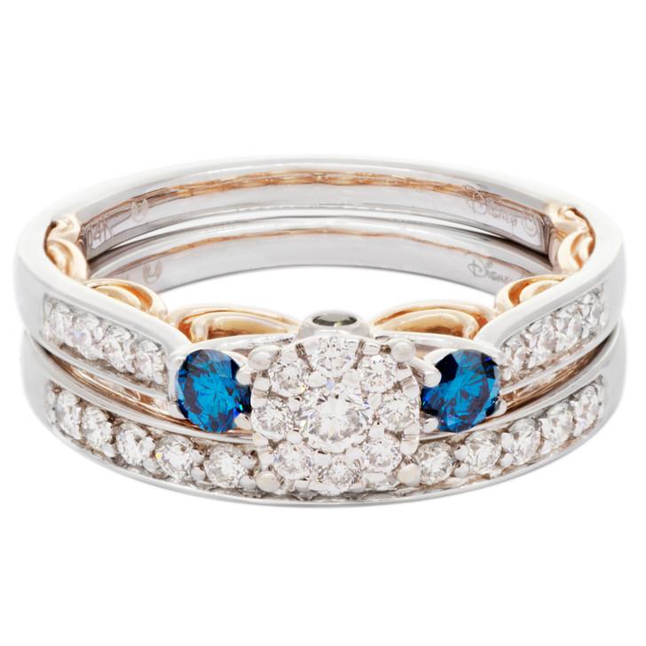 Disney Enchanted 14K White & Rose Gold Cinderella Diamond Bridal Set