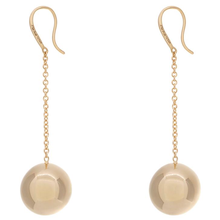 Tiffany & Co. 18K Yellow Gold HardWear Ball Hook Earrings