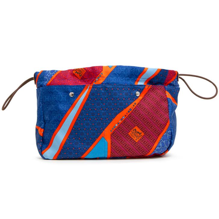 Authentic Hermes Silk Fourbi Carre en Cravates Pouch