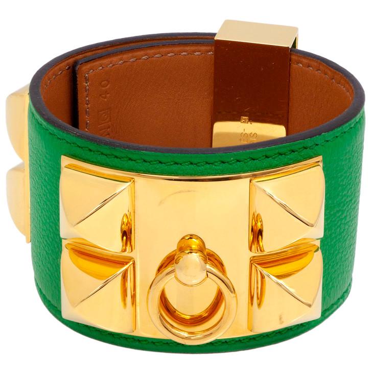 Hermes Bamboo Swift Collier de Chien Bracelet CDC