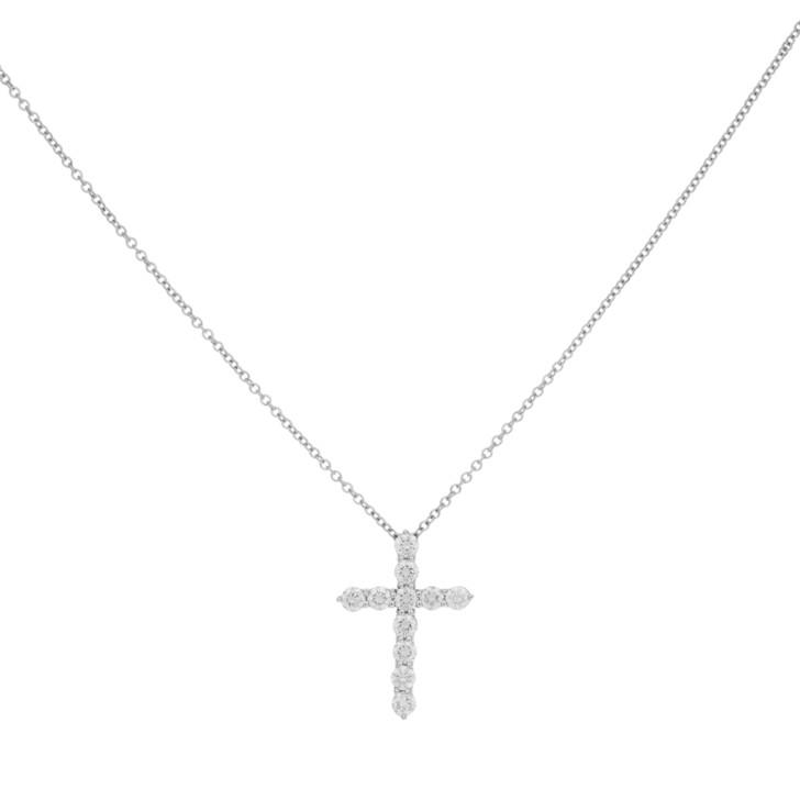Tiffany & Co. 950 Platinum & Diamond Cross Pendant
