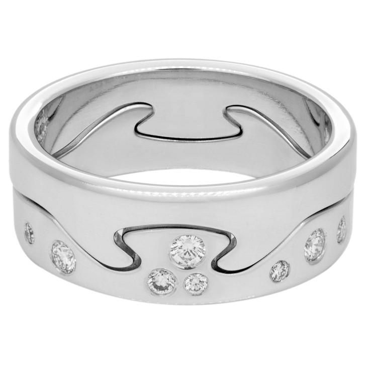 Georg Jensen 18K White Gold & Diamond Fusion 2piece Ring