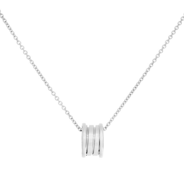 Bvlgari 18K White Gold B.Zero1 Pendant Necklace