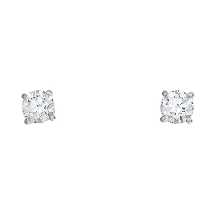 Cartier 18K White Gold Diamond Stud Earrings