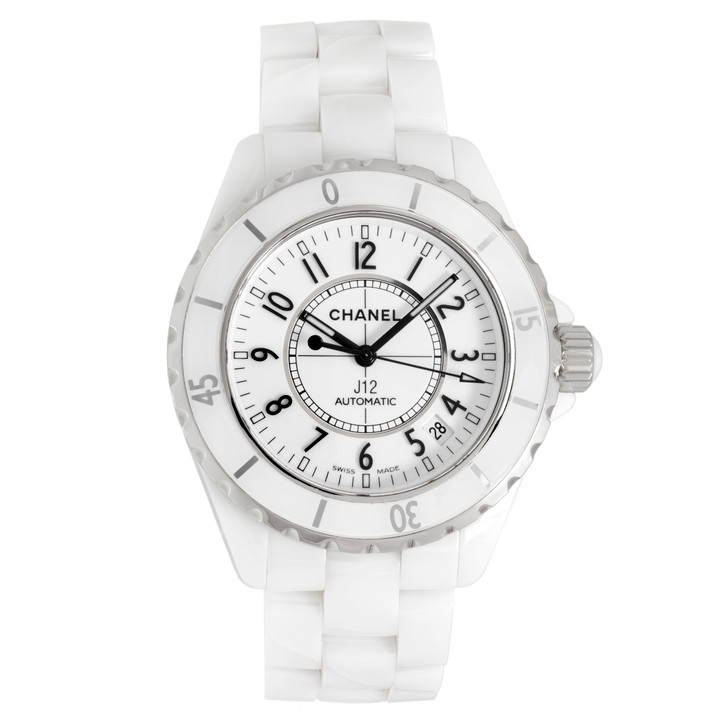Chanel J12 White Ceramic Automatic  38mm Watch H0970