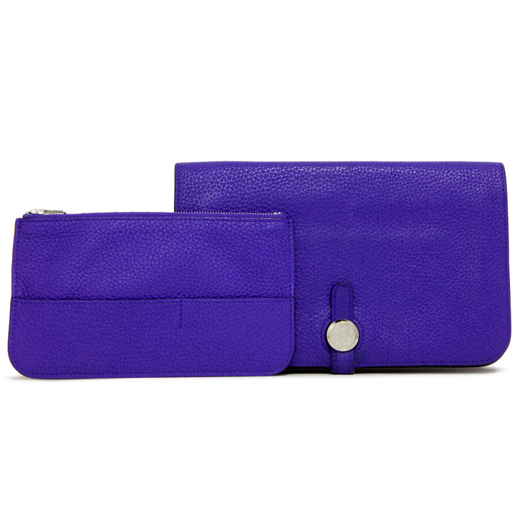 Hermes Bleu Electrique Togo Dogon Duo Wallet