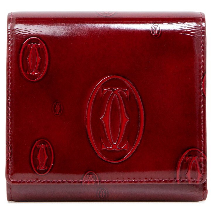 Cartier Red Happy Birthday Trifold Wallet