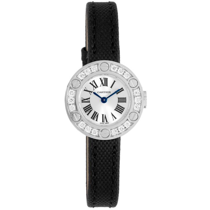 Cartier 18K White Gold & Diamond Love Watch WE800331