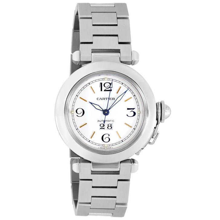 Cartier Stainless Steel Pasha C Big Date W31044M7